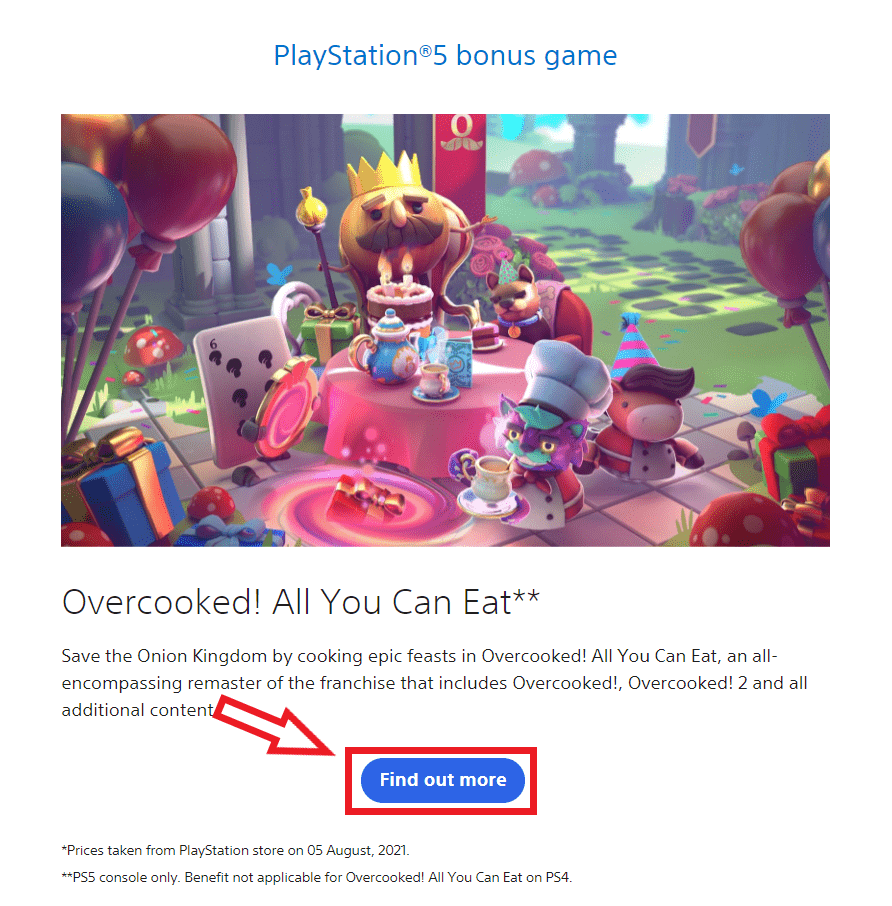 Overcooked! All You Can Eat september 2021 ps plus ps5 game